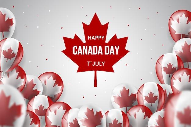 Реалистичные обои день канады шары