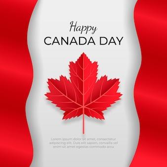 現実的なカナダの日のコンセプト