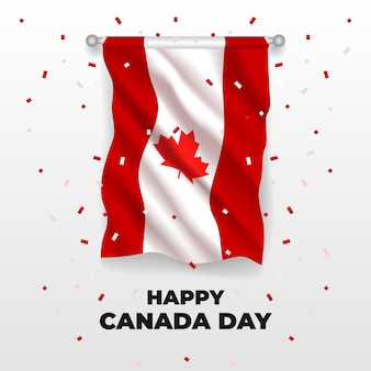 Realistic canada day illustration