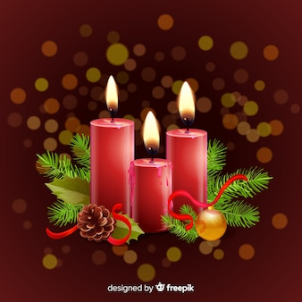 Realistic candles background