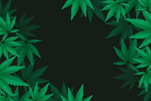 Realistic cannabis leaf background