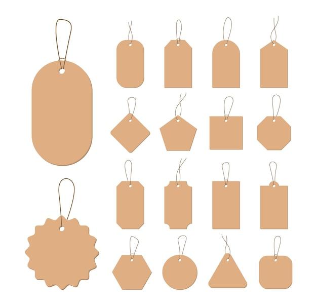 Realistic cardboard labels for promotion design.