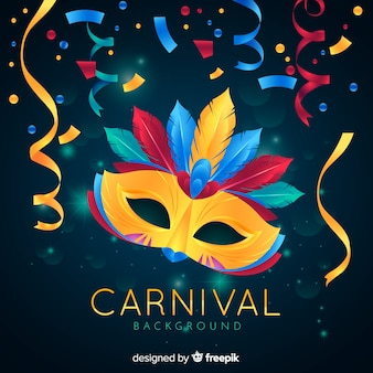 Realistic carnival background