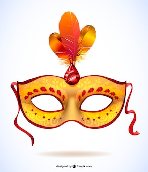 Realistic carnival mask