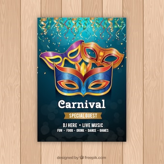 Realistic carnival party flyer/poster