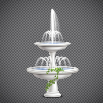 Realistic cascade fountain