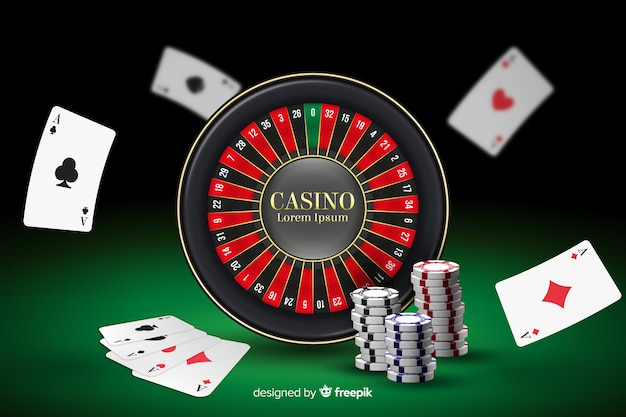 Realistic casino background