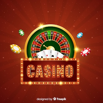Realistic casino elements background