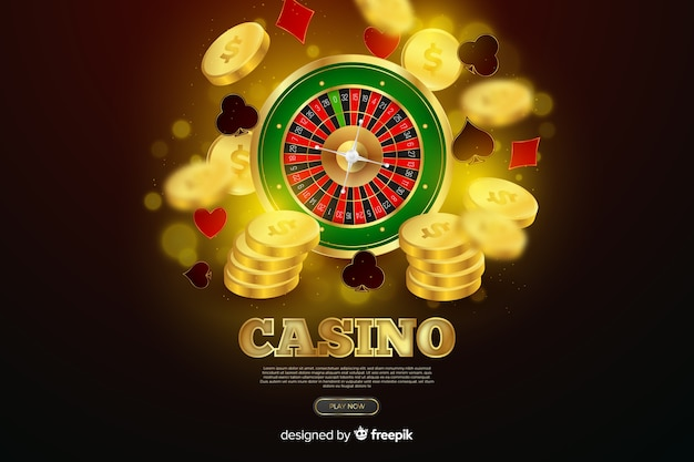 Realistic casino roulette background