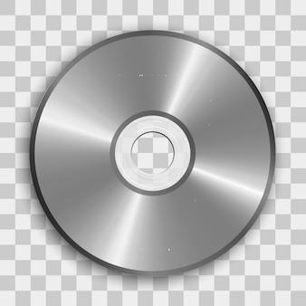 Реалистичная иконка cd или dvd. компакт-диск на прозрачном