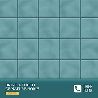 Realistic ceramic floor tiles  with bring a touch of nature home tagline of manufacturer