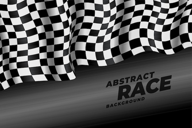 Priorità bassa di velocità della bandiera da corsa realistica a scacchi