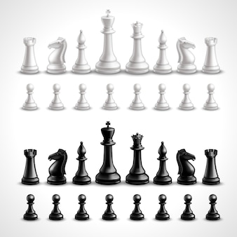 Realistic chess figures