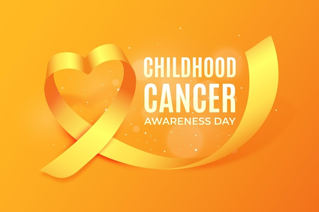 Realistic childhood cancer day illustration