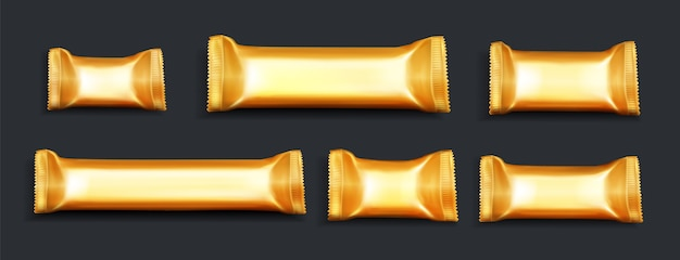Confezioni di barrette di cioccolato realistiche