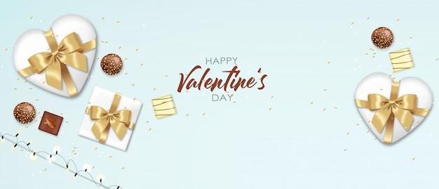 Реалистичный шоколадный набор, подарок, конфеты и огни, вкусный десерт, день святого валентина, любовь, вид сверху шоколадная коллекция пралине, иллюстрация черно-белого шоколада