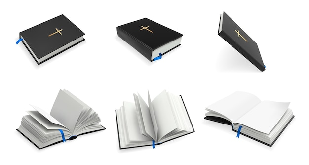 Realistic christianity holy bible set.