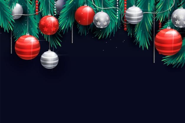現実的なクリスマスの背景