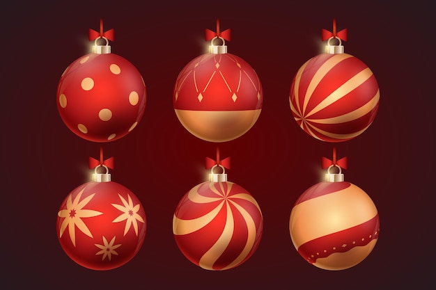 リアルなクリスマスボール飾り