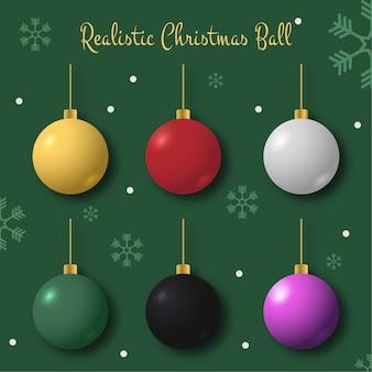 Реалистичные рождественские шары иллюстрация