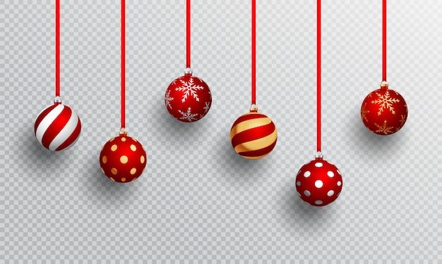 Реалистичные рождественские шары.