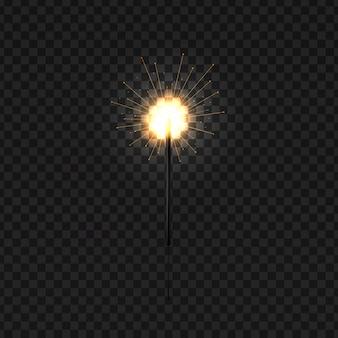 장식 및 투명 한 배경에 대 한 현실적인 크리스마스 벵골 향. 기쁜 성 탄과 새 해 복 많이 받으세요의 개념입니다.