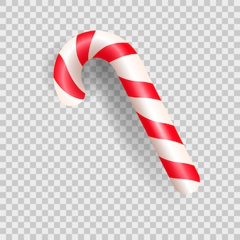 Realistic christmas candy cane.