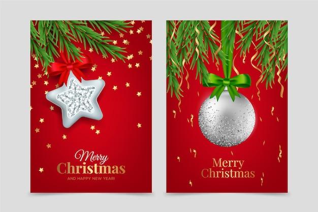 현실적인 크리스마스 카드 개념