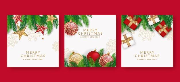 Реалистичные рождественские открытки