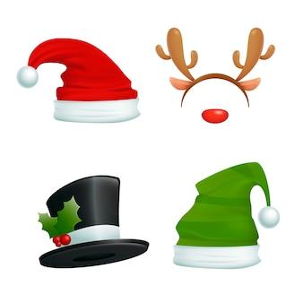 Реалистичные новогодние шапки