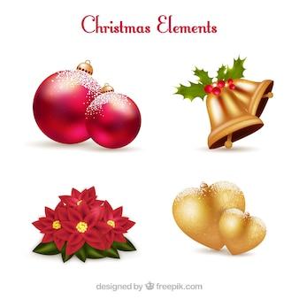 Реалистичная рождественские украшения