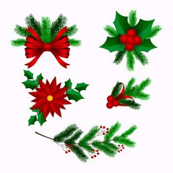 Decorazione natalizia realistica