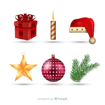 현실적인 크리스마스 요소 컬렉션