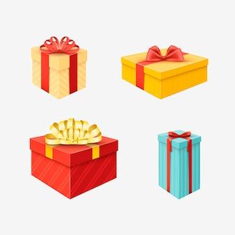 Реалистичная рождественская коллекция подарков