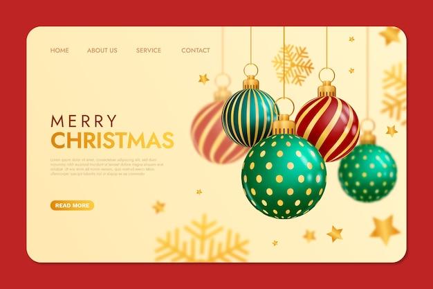 현실적인 크리스마스 방문 페이지 템플릿