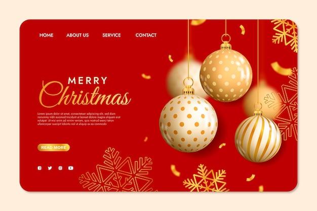 Pagina di destinazione natalizia realistica