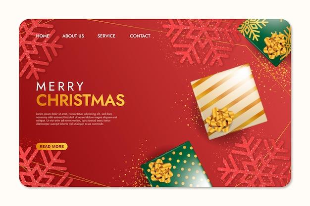 Реалистичная рождественская целевая страница