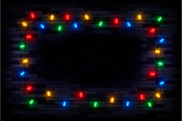 リアルなクリスマスライトフレーム