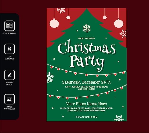 リアルなクリスマスパーティーのポスター