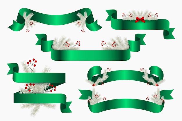 Реалистичная рождественская коллекция лент