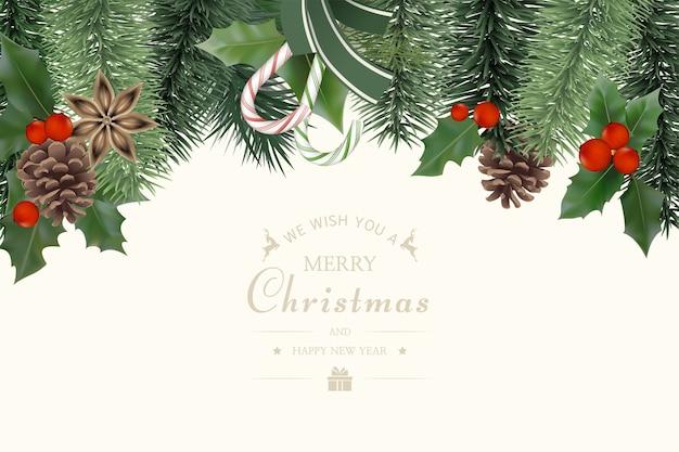 Реалистичные рождественские продажи баннер шаблон.
