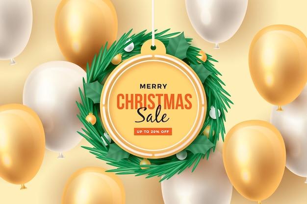 현실적인 크리스마스 판매 개념