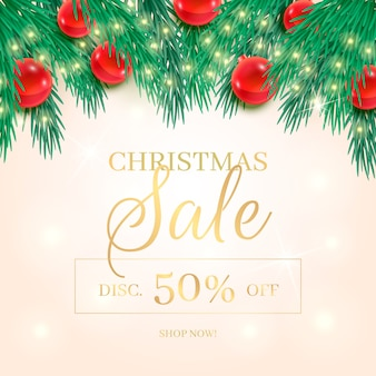 Realistic christmas sale discount