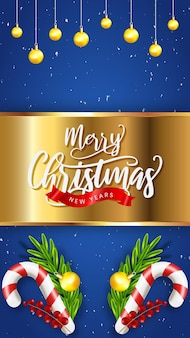 Реалистичные рождественские продажи instagram рассказы с украшением