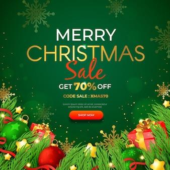 현실적인 크리스마스 판매 템플릿