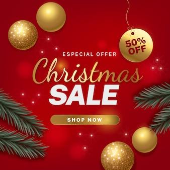 Realistic christmas sale