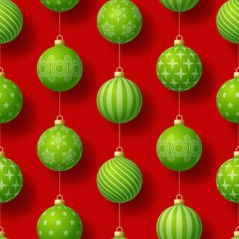 幾何学的なモチーフとリアルなクリスマスのシームレスなパターン