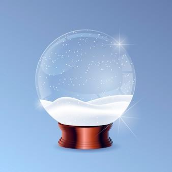 현실적인 크리스마스 눈덩이 글로브
