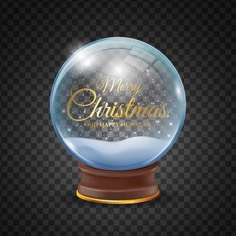 リアルなクリスマススノーボールグローブ