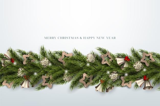 Realistic christmas tinsel wallpaper